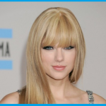 Taylor Swift mit pony frisuren langhaar blond