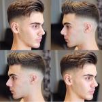 Der neueste trend modische frisuren jungs oder männer