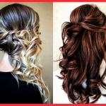 Einfache frisuren mit locken für langes haar