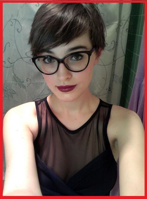 Girl Fringe Glasses Short Hair