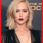 Jennifer Lawrence mit frisuren damen mittellang