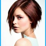 Moderne frisuren kurze haare braune bob stylen