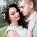 Elegante idee frisuren für hochzeit Bräutigam und Braut