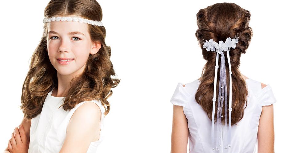 Frisuren Kommunion Lange Haare Geflochten Bilder Frisur Ideen