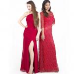 Herrliche frisuren für hochzeitsgäste selber machen mit roten kleid