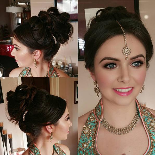 Schön braut frisuren schwarz lange haare indian inspirieren