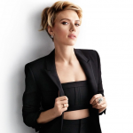 Neuesten trend bob frisuren kurz gestuft Scarlett Johansson blond haare bilder