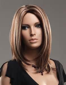 Frisur Damen Mittellang Braun