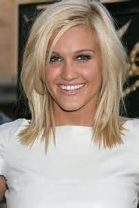 Frisur Mittellang Blond Gestuft