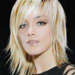 Frisuren Mittellang Gestuft Blond