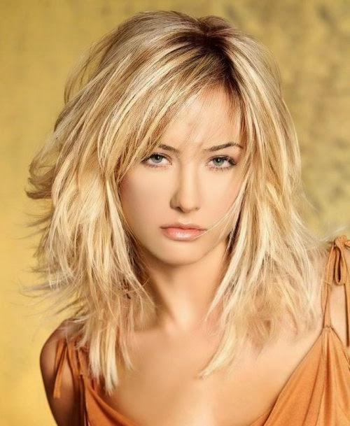 Frisuren Blond Halblang