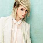 Fransige Frisuren Mittellang Moderne Blond Haare