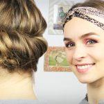 Elegante Frisuren Einfach Selber Machen Mit Stirnbänder Und Machen Das Haar Erscheinen Kürzere Länge, Geeignet Für Blonde Und Lockige Haare