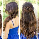 Elegante Frisuren Für Mittellange Haare Sieht Von Hinten