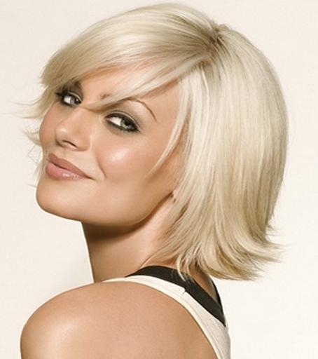 frisuren für halblanges feines haar blonde glatte haare