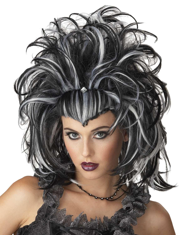 Halloween Frisuren Black Schwarz Lange Haare Aber Es Macht Immer Noch Schöne Frau
