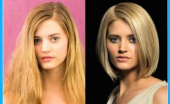 blond-bob-frisuren-vorher-nachher-fotos-lange-haare-in-eine-halbe-lange-gerade-frisur-und-geeignet-fur-ovale-gesichter