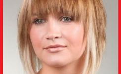bob-strahnchen-frisuren-blond-mittellang-haare-schone-frau-mit-glattem-haar-attraktiv