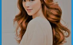 interessante-idee-aussehen-elegante-frau-frisuren-fur-schmale-gesichter-und-hohe-stirn-dicke-braune-haare