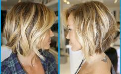 interessante-ideen-frisuren-bob-gestuft-blonde-haare-mit-fransen