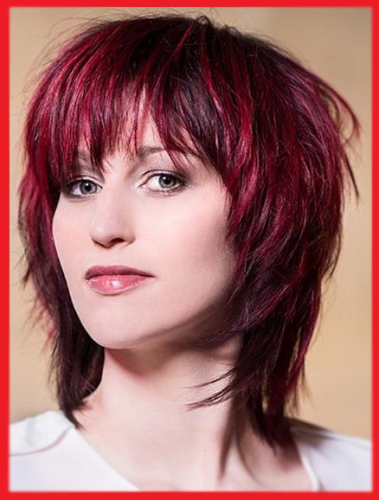 Permalink to Roten Haaren fransige frisuren mittellang