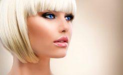 Blonde Girl Portrait. Blond Hair. Hairstyle. Stylish Make Up