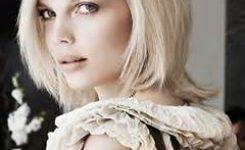Frisur Damen Blond Mittellang