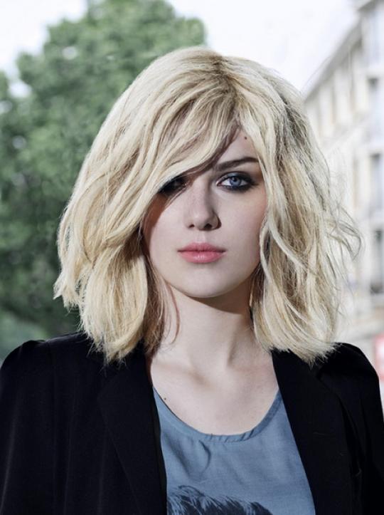 Permalink to Frisur Halblanges Haar Schönes Gesicht Mit Blonden Haaren, Die Ihre Frisur Ideen Sein Könnte