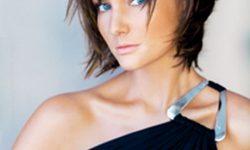 Frisuren Für Dünne Haare Und Schmales Gesicht Haare Mit Einer Quaste An Der Vorderseite Erzeugt Den Eindruck Von Frechen Und Attraktive