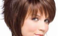Frisuren Mittellang Braun Rundes Gesicht
