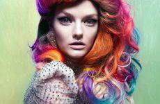 Halloween Frisuren Frauen Bunte Interessante Idee Lange Haare Und Elegant