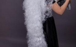 Halloween Frisuren Lange Haare Für Langes Weißes Haar Und Einem Gesicht Immer Noch Schön Und Elegant