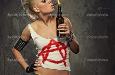 Punk Girl Smoking A Cigarette