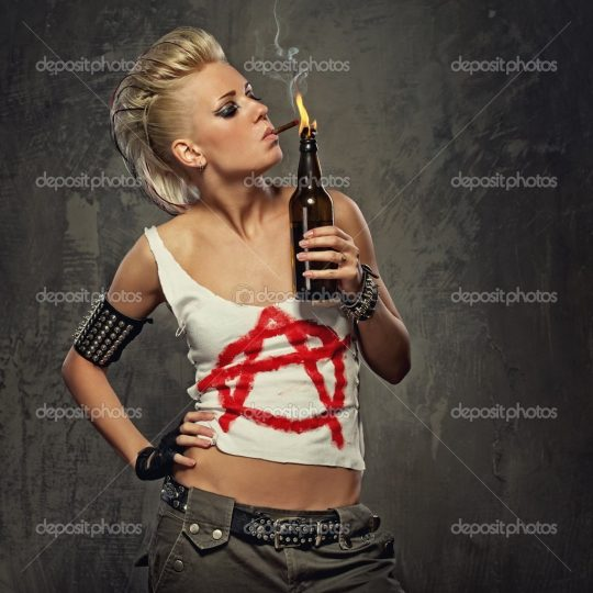 Permalink to Punk Girl Smoking A Cigarette