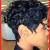 Schwarz kurz haare locken frisuren