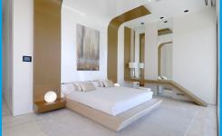 wände schlafzimmer streichen beispiele farbe ideen. Die Einrichtung ist modern braun und weiß.